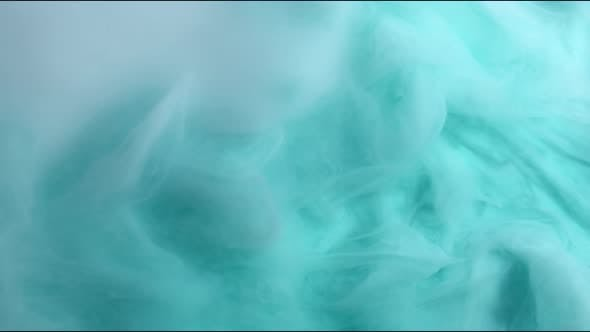 Thumbnail for Turquoise and White Inks Are Mixed in Water. Use for Backgrounds or Overlays Requiring a Flowing and