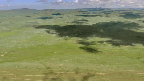 Vast Empty Prairie of Central Asian Lowland
