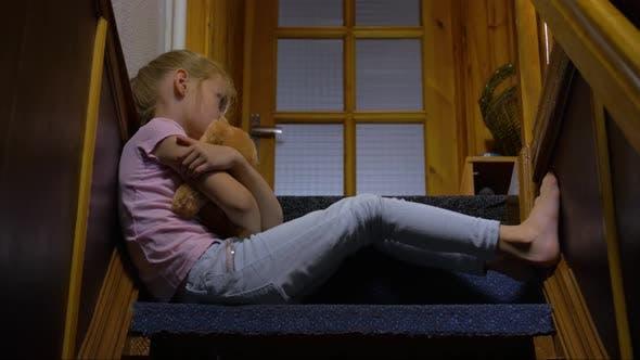 Thumbnail for Sad Girl With Teddy Bear