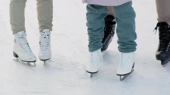 Thumbnail for Legs In Skates On Ice Rink