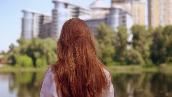 Thumbnail for Portrait Young Woman with Amazing Red Long Hair