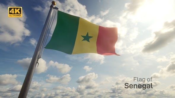 Thumbnail for Senegal Flag on a Flagpole - 4K