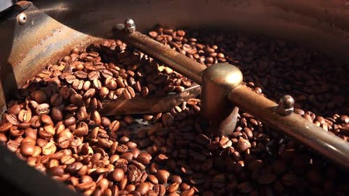Coffee In Roasting Machine 4