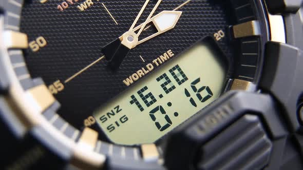 Thumbnail for Tactical Digital Watch Macro Close 2