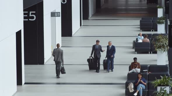 Passengers in Airport Lounge