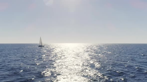 Thumbnail for Sailboat Sailing in Daytime in the Eastern Seas of Spain