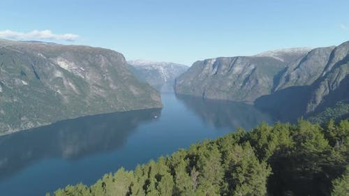 Aurlandsfjord As a Part of Sognefjord in Norway