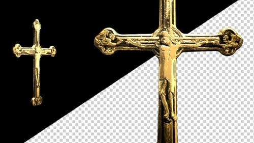 Worship Crucifix - Old Gold - Spinning