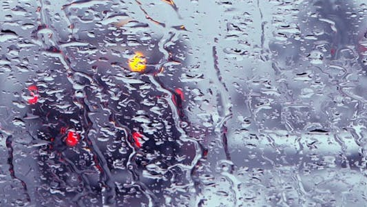 Thumbnail for Wet Snowy Window Glass - 05 - Village Road
