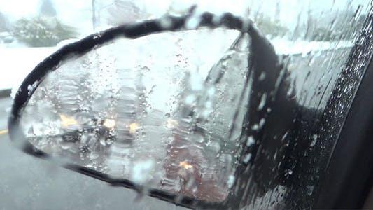 Thumbnail for Snowy Road - 12 - Wet Side Window, Mirror & Traffic