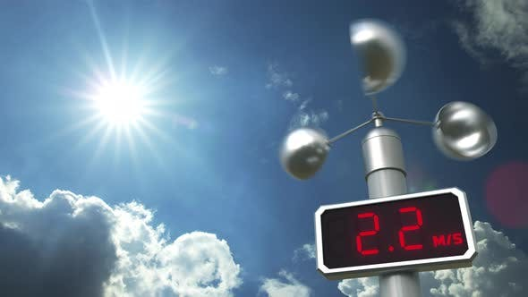 Thumbnail for Anemometer Displays 20 Meters Per Second Wind Speed