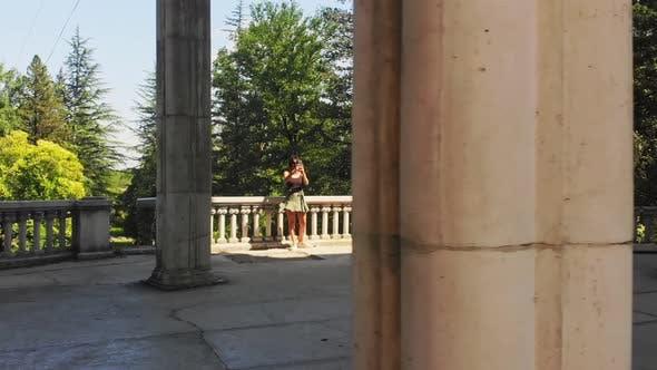 Person Takes Photo In Tsklatubo, Georgia