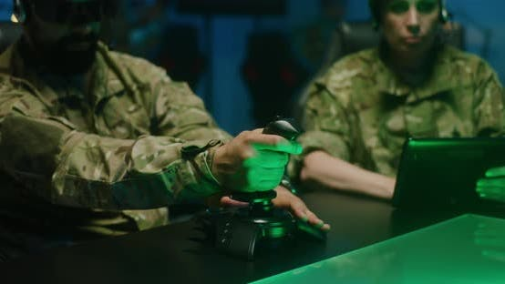 Thumbnail for Soldier Using Remote Controlling Device