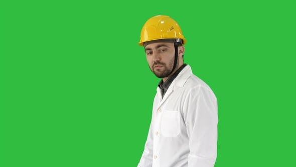 Thumbnail for Unhappy construction site engineer talking and walking