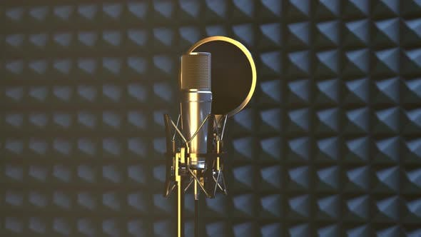 Thumbnail for Professional Microphone in Sound Recording Studio