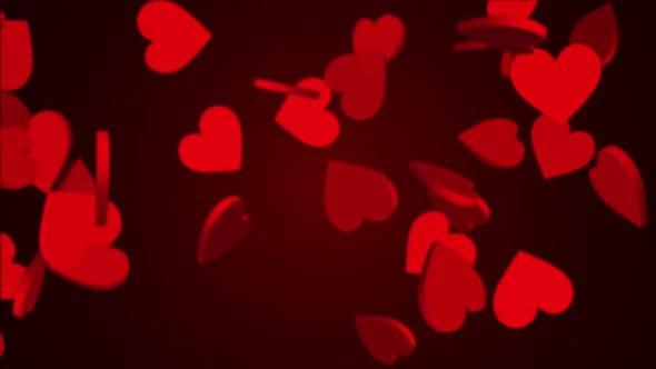 Thumbnail for Falling hearts 8K