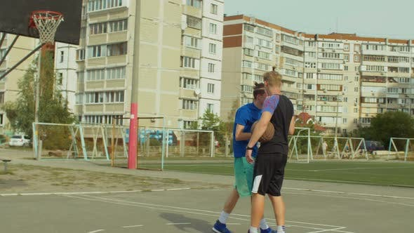 Thumbnail for Streetball Player Helping Fallen Opponent To Stand Up