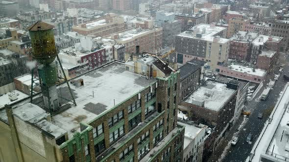 Climate Change Snowing Rain Background