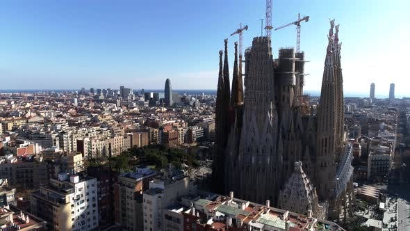 Thumbnail for Facade of Sagrada Familia Cathedral, Barcelona
