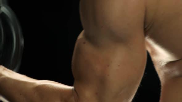 Nahaufnahme Aufbau von Muskeln und Kraft.