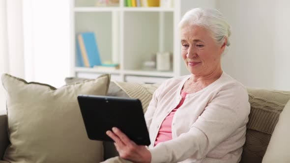 Thumbnail for Old Woman with Tablet Pc Having Video Call at Home