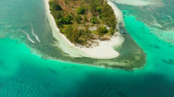 Tropical Island with Sandy Beach