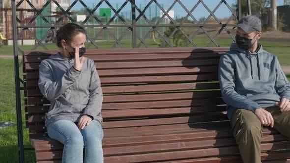 Soziale Distanz.  EIN