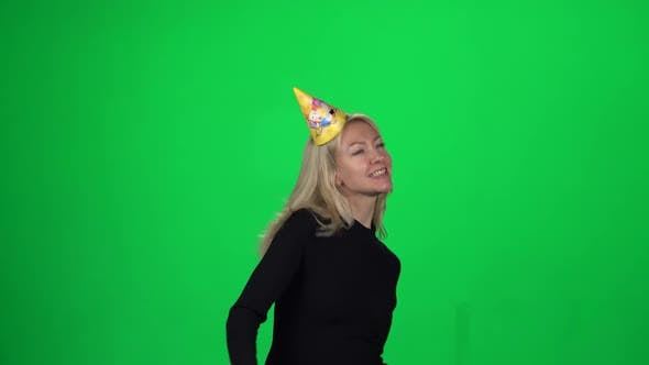 Lady in a Birthday Hat