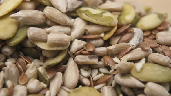 Thumbnail for Unsalted Sunflower and Pumpkin Seeds Close Up