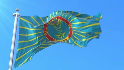 Nur-Sultan Flag, Kazakhstan