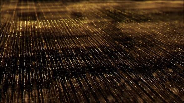 Thumbnail for Golden Matrix Grid Particles Background 01