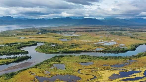 Avacha River Delta and Bay on Kamchatka