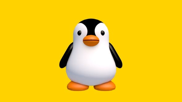 Pingouin 3D Balançoire — Bouclée
