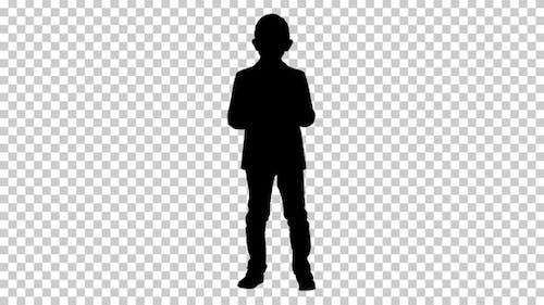 Silhouette kleiner Junge, Alpha-Kanal