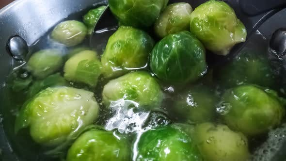 Fresh Green Brussel Sprouts