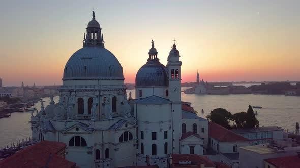 Thumbnail for Venice, Italy, Aerial View of Santa Maria Della Salute