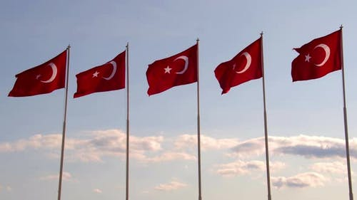 Red And White National Turkish Flag