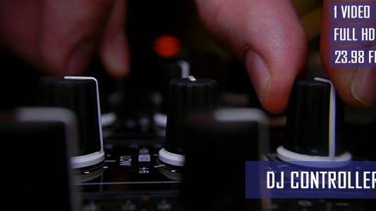 Thumbnail for DJ Adjusting Mixer Controllers At Records Studio
