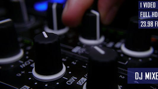 Thumbnail for DJ Adjusting Mixer Controllers At Nightclub