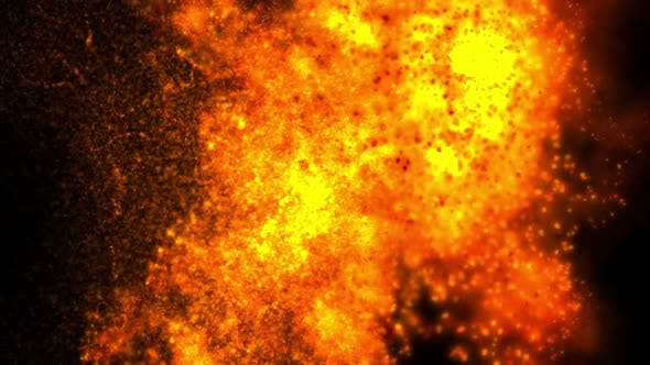Thumbnail for Explosion Particles Passing Transition
