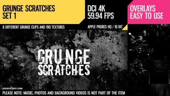 Thumbnail for Grunge Scratches (4K Set 1)