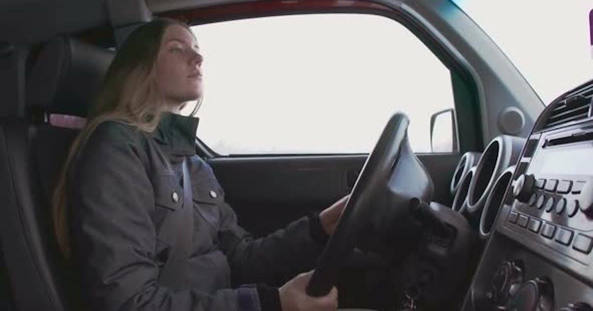 Alert Female Driver