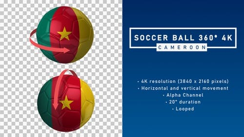 Soccer Ball 360º 4K - Cameroon