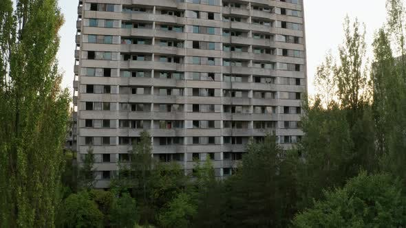 Cover Image for Drone View of Empty High-rise Building in Pripyat