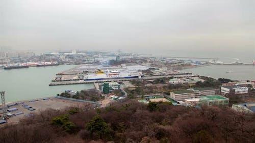 Korea SteamBoat Incheon Transportation Ship