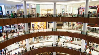 The Dubai Mall One of the Biggest Shopping Mall in the World Time-lapse