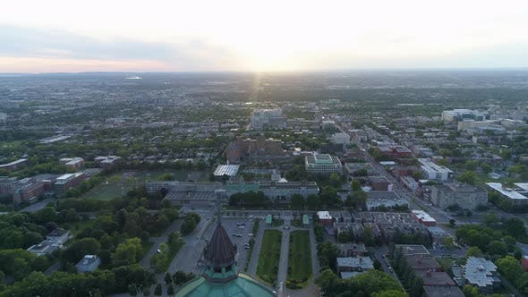 Thumbnail for Aerial view of Montreal with Saint Joseph's Oratory