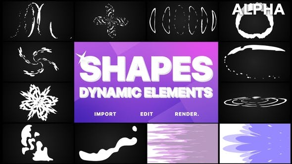 Thumbnail for Dynamic Shapes Pack | Motion Graphics Pack