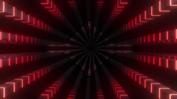 4K Tunnels Of Neon Lights Moving On Blocks Pack