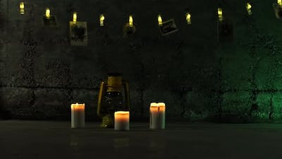 Dark Ambiance Light And Candle